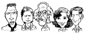 Back to the Future Caricatures by b1naryg0d