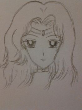 Sailor Neptune Sketch by Soldier-of-the-rails