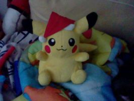 Santa Hat Pikachu Plushie by PikaYugi4Ever93