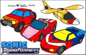 Sonic transformers vehicles by terrenslks