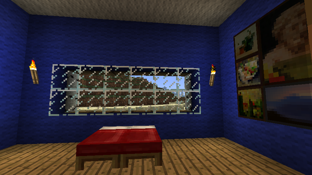 minecraft mansion guest bed by coachlovesfootball