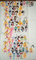 Sailor Moon keychain figures by RakikoHime