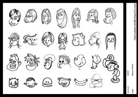 cartoon face sketch by emmgeetee
