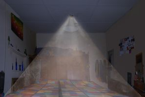 My Room with Protection Pyramid by TrishRDesigns