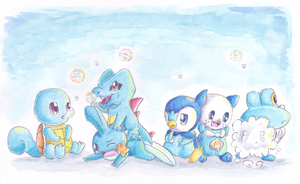 Water Starters Wallpaper by PitchBlackEspresso