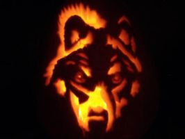 my wolfie pumpkin by AveeRose