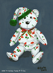 1998 TY Holiday Teddy...in Reverse by Raph1966