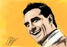 Alberto Del Rio cartoon sketch by k4k7uz
