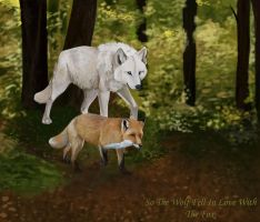 Wolf and Fox by Lost-Wolf-Soul