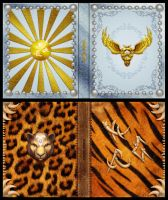 Mage Wars - Spell book sleeves - SET 8 by Deligaris