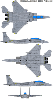 McDonnell Douglas Boeing F-15 by bagera3005