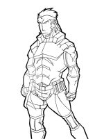 Solid Snake - LineArt by EckoSlime
