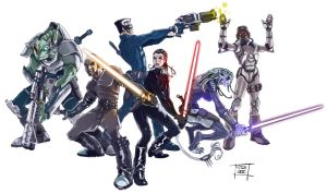 Star Wars Party by Nezart