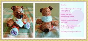 Knit teddy bear by moonwolf17