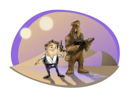 Danteenies - Han and Chewie by Dantooine