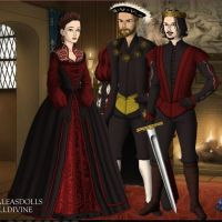 King Henry VIII, Erzsebet, and Vlad by abesgoldenfriend