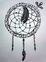 Untraditional Dream-catcher by morningfeather