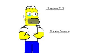 My version of Homer Simpson crying by onlycartoons