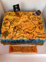 Treasure Map Cake by Rebeckington