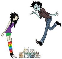 Marshall lee and Natalia (Fighting) by ImTheAwesomeHero