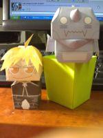 Papercraft: Ed and Al Elric by Tsunaide