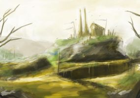 Scenery Sketch - 3 by Rainemaster