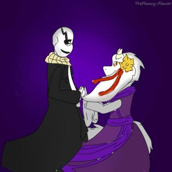 Gaster x Toriel by TheFlauwy-Flower