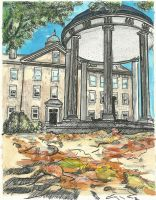 UNC 'Old Well' Watercolor by jbowersstudio