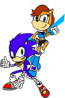 Sonic and Sally Redesign Team Up by FrostTheHobidon