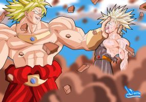 Broly and Trunks 2 by Sersiso