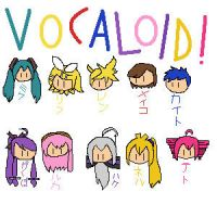 chibi vocaloid faces by pinkirlia