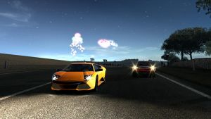 GT5 Lambo Sunset' by Squall-Darkheart