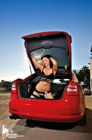 Skoda Octavia RS and Mary by rooteanu