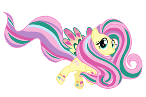 Rainbow Power Fluttershy by Ashidaru