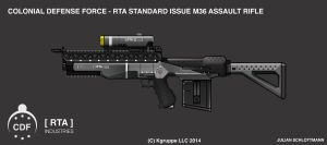 Takamo Universe: RTA M36 ASSAULT RIFLE by FutureFavorite