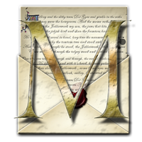 Steampunk M Open Envelope Icon by yereverluvinuncleber