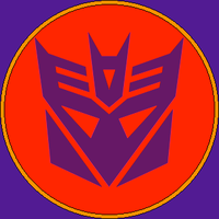Evil Tyrannical Decepticon Symbol by LovestrongArtFan90