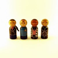 Red Dwarf peg people by jen-random
