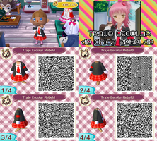 QR Code ACNL: Traje Escolar de Amu by One-Eco