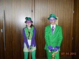Riddler and FemRiddler at Connecticon 2012 by PsychoBabble192