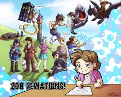 200 Deviations by LauraDoodles