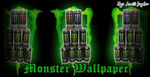 Monster wallapaper by amit55