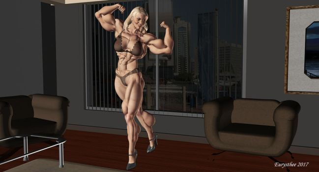 Sandy muscular mature woman 40 by eurysthee