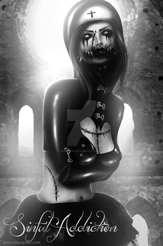 Gore Nun BW Request for Sinfuladdiction by MakeMeMagical