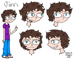 Jim - ref sheet by Sean-M-Yeager