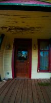 to scared to knock Panorama by superjacqui