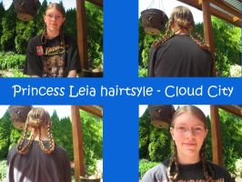 Princess Leia hair - Cloud City style by Hiddenwithinthunder