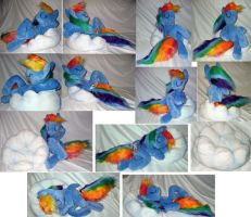 Rainbow Dash on cloud by Rens-twin
