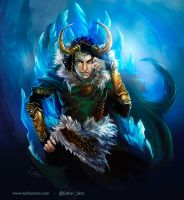 Loki, Prince of Ice by Esther-Sanz