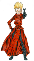 Commission- Vash the Stampede by RoadkillFox